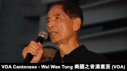 李柱銘表示,如果不參加佔領中環爭取真普選,會死不冥目,他又呼籲港人要捍衛香港的文化,包括廣東話、繁體字以及法治精神等