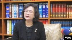 台灣外交部發言人王珮玲。(美國之音張永泰攝)