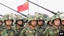 훈련중인 중국인민해방군