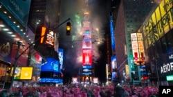 Doček nove godine na njujorškom Tajms skveru