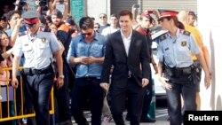 مسی در حاشیه یکی از جلسات دادگاه