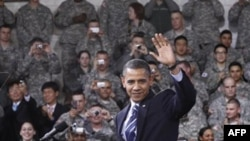 Обама выступил перед американскими военными в Корее