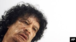 Coronel Muamar Kadhafi (file photo)