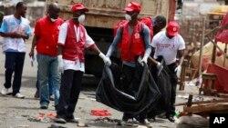 Ma'aikatan Agajin Gaggawa na Red Cross.