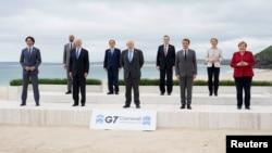 G-7 ထိပ္သီးအစည္းအေဝး တက္ေရာက္လာတဲ့ ကမၻာ့ေခါင္းေဆာင္မ်ား။ (ဇြန္ ၁၁၊ ၂၀၂၁)