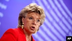EU Justice Commissioner Viviane Reding (file photo)