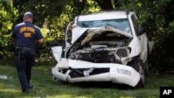 En la imagen, la condición en la que quedó el vehículo taras el choque.