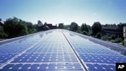 图为清洁能源之一的太阳能