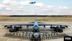 美國B-52同溫層堡壘轟炸機近日在韓國執行了兩次訓練使命。