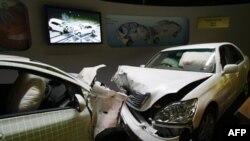 Автоматический регистратор, установленный в «Тойоте», фиксирует момент аварии
