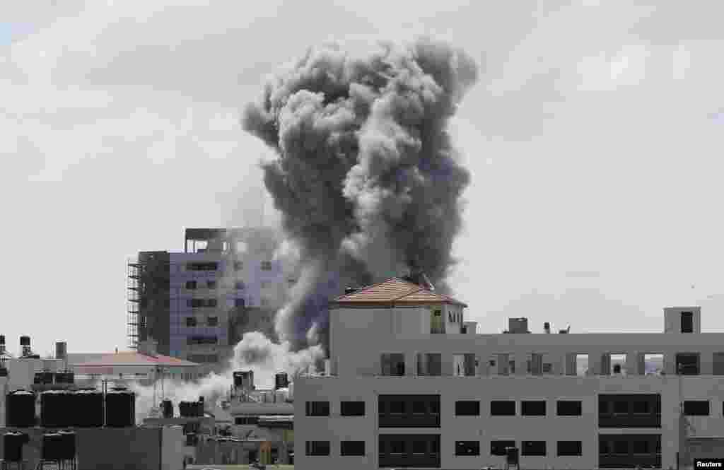 اسرائیل کے غزہ پر حملوں کا سلسلہ آٹھ جولائی کو شروع ہوا تھا۔