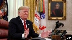 پرزیدنت ترامپ، روز سهشنبه در دفتر کار ریاست جمهوری در کاخ سفید