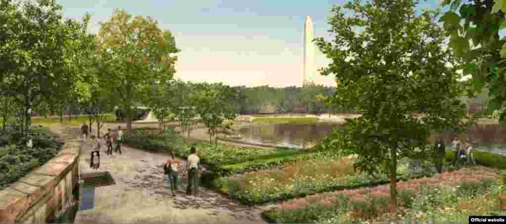 Los jardines de la Constitución de las firmas de arquitectos Nelson Byrd Woltz Landscape Architect & Paul Murdoch Architects.