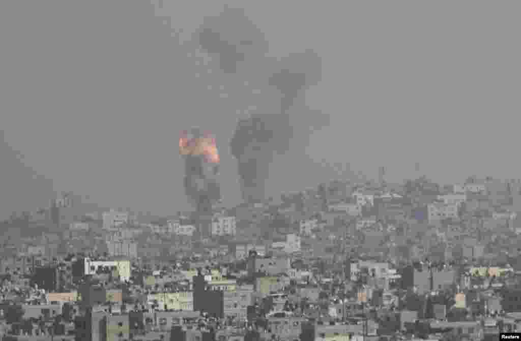Իսրայելի օդուժի կողմից Գազայի գոտու ուղղությամբ իրականցվող հարձակում