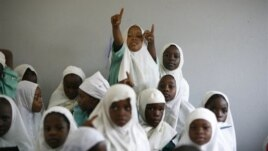 Students at a school in Cameroon