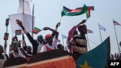 Des festivités à Juba à l'occasion du 3ème anniversaire de l'accession du pays à l'indépendance (Photo AFP)