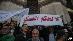 Manifestation à Alger, en Algérie, le 10 avril 2019.
