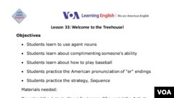 Lesson Plan - Lesson 33: Learning America's Sport