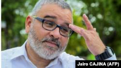 El ex presidente de El Salvador Mauricio Funes ofrece una entrevista al canal de televisión oficial de Nicaragua, 8 de septiembre de 2016 en Managua © PRESIDENCIA NICARAGUA / AFP Jairo CAJINA