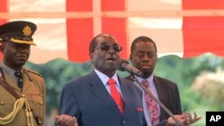 President Robert Mugabe at a recent Zanu PF rally.