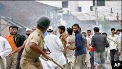 مسدودشدن اعتراضی کشمیر تحت اداره هند