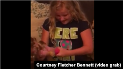 Ten-year-old Emma Bennett got a surprise gift that made her very happy. She was given an American Girl doll that had one leg.