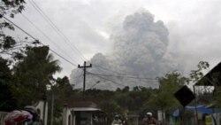 فوران دوباره آتشفشان در اندونزی