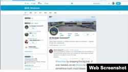 美國戰略司令部推特賬戶截圖。(資料圖片)