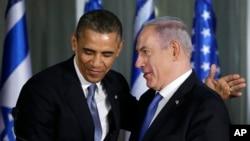 美國總統奧巴馬3月20日中東之行在以色列與內塔尼亞胡會面。
