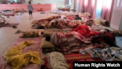 Irak'taki mülteci okulu