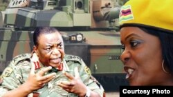 Former First Lady Grace Mugabe and General Constantino Guveya Chiwenga