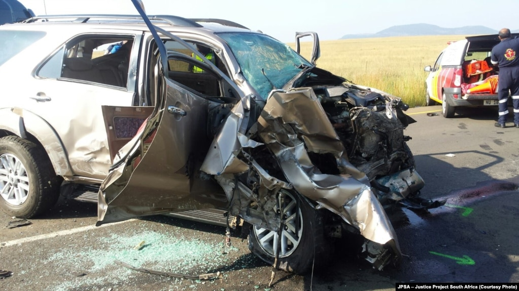 the scene of another fatal high speed collision on a highway in south africa