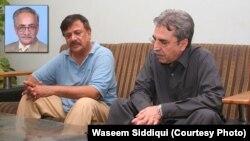 عامر خان شعیب بخاری کے چھوٹے بھائی سے اظہار تعزیت کرتے ہوئے