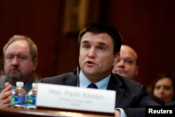Ukrainian Foreign Minister Pavlo Klimkin testifies before a Senate subcommittee on Capitol Hill in Washington March 7, 2017.