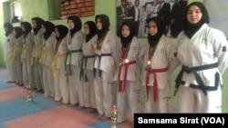 Afghan women teakwondo