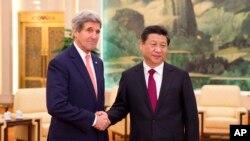 14일 시진핑 중국 국가주석을 만나는 존 케리 미국 국무장관