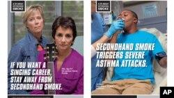 Berbagai iklan anti merokok di Amerika (foto: ilustrasi).