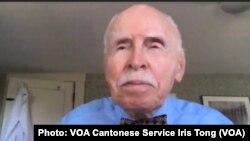 紐約大學法學院教授孔傑榮獲得首次頒發的中國法治與人權貢獻奬 (攝影:美國之音湯惠芸)
