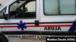 Une fourgonnette des forces de l'ordre nigériane à Abuja, le 20 septembre 2013.