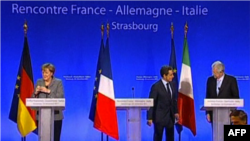Strasburg: Merkel dhe Sarkozi takohen me kryeministrin italian Monti