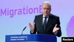 Le commissaire européen aux migrations Dimitris Avramopoulos, 2 mars 2017.