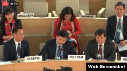 Phái đoàn Việt Nam tham gia đợt Kiểm điểm Định kỳ Phổ quát ở Geneva vào ngày 22/1/2019.
