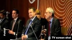 Ivica Dačić, šef srpske diplomatije na strateškom forumu na Bledu, 2. septembar 2014.