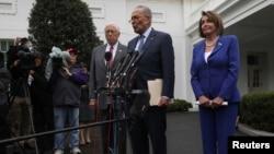 گفتگوی چاک شومر و نانسی پلوسی با خبرنگاران در کاخ سفید - ۲۴ مهر ۱۳۹۸