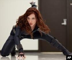 "Natalie Rushman (Scarlett Johansson), aka Black Widow, in ""Iron Man 2"" © 2010 MVLFFLLC. TM & © 2010 Marvel. All Rights Reserved."