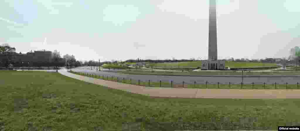 Los terrenos cerca del monumento a Washington, diseñado por Diller Scofidio Renfro & Hood Design.