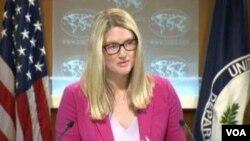 美國國務院代理發言人瑪麗哈夫在例行記者會上