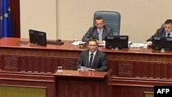 Incident në parlamentin e Maqedonisë