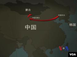 北韓人從東北前往內蒙 計劃經由戈壁沙漠進入蒙古國路線圖