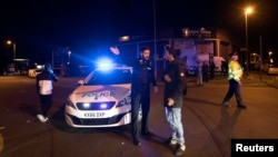 پولیس بریتانیا در محل رویداد انفجار در شهر مانچستر